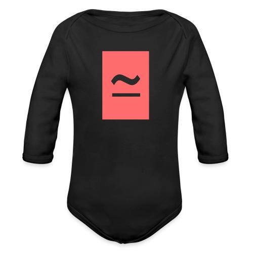 The Commercial Logo (Salmon Pink) - Organic Longsleeve Baby Bodysuit