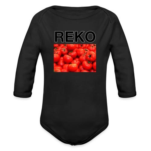 REKOpaita tomaatti - Vauvan pitkähihainen luomu-body
