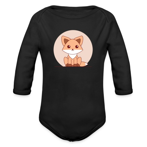 Shirt Vosje - Baby bio-rompertje met lange mouwen