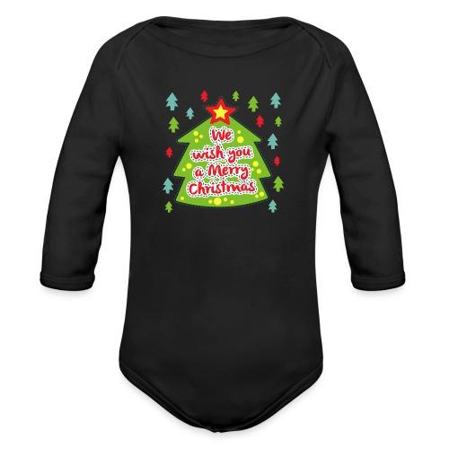 We wish you a Merry Christmas - Organic Longsleeve Baby Bodysuit