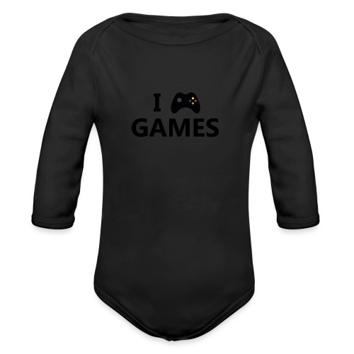 I Love Games 3 - Body orgánico de manga larga para bebé