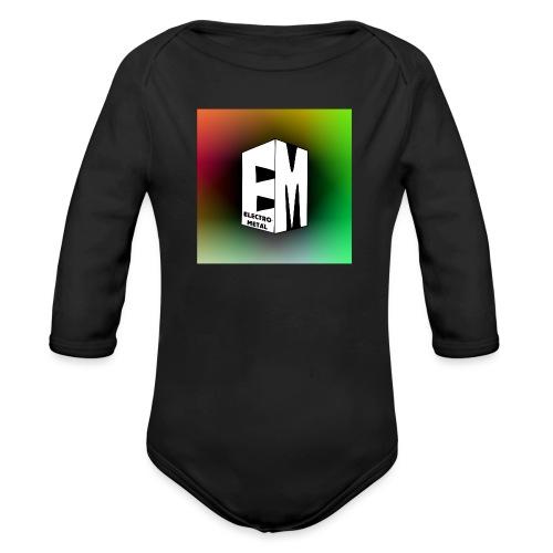ElectroMetal_Logo - Organic Longsleeve Baby Bodysuit