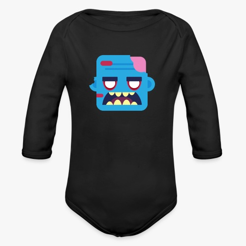 Mini Monsters - Zombob - Langærmet babybody, økologisk bomuld