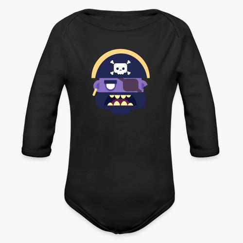 Mini Monsters - Captain Zed - Langærmet babybody, økologisk bomuld