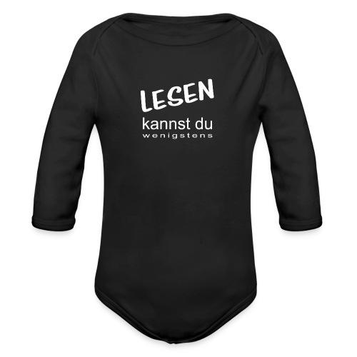 Lesen-kannst-du-wenigstens - Baby Bio-Langarm-Body