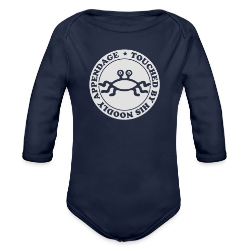 Touched by His Noodly Appendage - Organic Longsleeve Baby Bodysuit