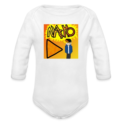 Nacho Title with Little guy - Organic Longsleeve Baby Bodysuit