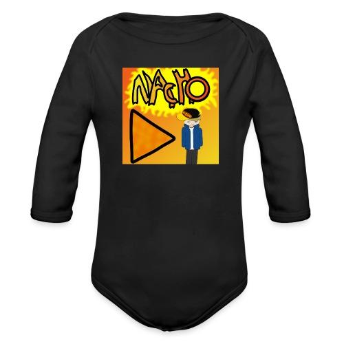Nacho Title with Little guy - Organic Longsleeve Baby Bodysuit