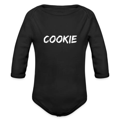 Diseño blanco de la galleta - Body orgánico de manga larga para bebé