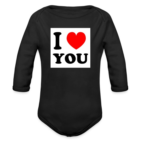 Sweater met i love you - Baby bio-rompertje met lange mouwen