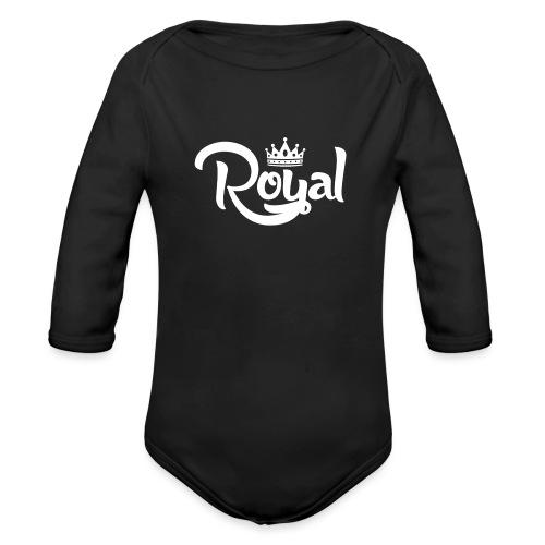 Royal Logo White Edition - Organic Longsleeve Baby Bodysuit