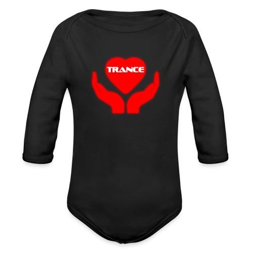 Trancehart - Ekologisk långärmad babybody
