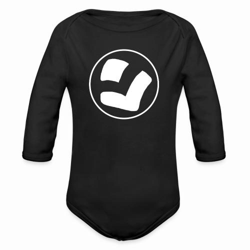 LaidPark White Logo - Vauvan pitkähihainen luomu-body