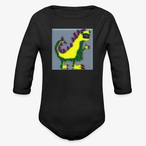 DINO RAW´S - Body orgánico de manga larga para bebé