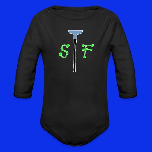 SpinnerFox logo - Ekologisk långärmad babybody