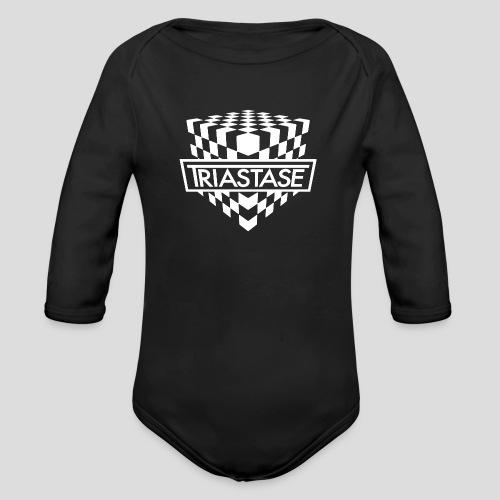 Triastase Logo White - Organic Longsleeve Baby Bodysuit