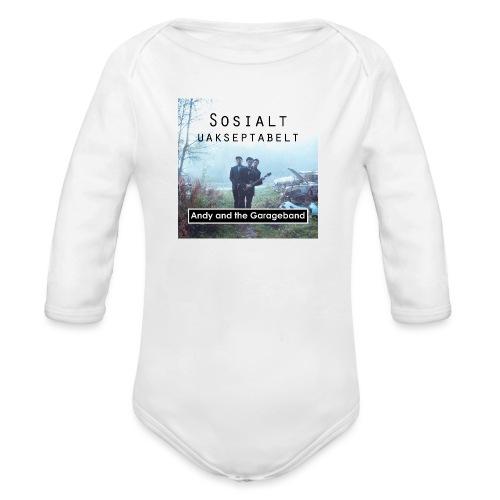 Sosialt Uakseptabelt - Økologisk langermet baby-body