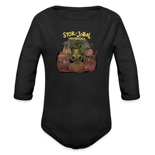 T-shirt Stor- Jobal från Krokjala - Organic Longsleeve Baby Bodysuit