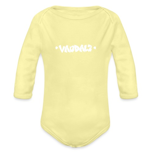 Vandalz White - Body ecologico per neonato a manica lunga
