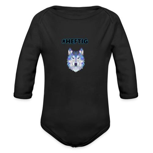 wolf blau - Baby Bio-Langarm-Body
