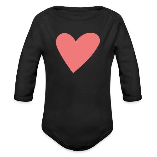 Popup Weddings Heart - Organic Longsleeve Baby Bodysuit