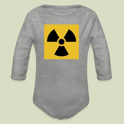 Radiation warning - Vauvan pitkähihainen luomu-body
