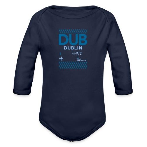 Dublin Ireland Travel - Organic Longsleeve Baby Bodysuit