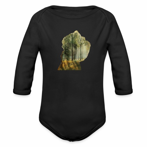 Double The Lady Exposure - Organic Longsleeve Baby Bodysuit