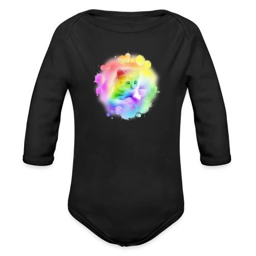 Rainbow Kitty - Organic Longsleeve Baby Bodysuit