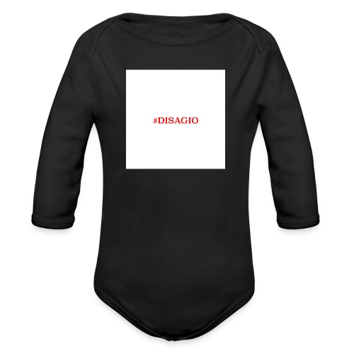 COLLEZIONE UNISEX #DISAGIO - Body ecologico per neonato a manica lunga