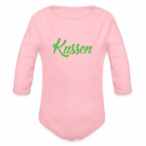 Kussen.website kussensloop groen - Baby bio-rompertje met lange mouwen
