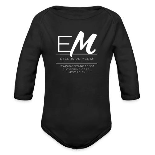 Raising standards lowering cars - Zip up hoodie - Organic Longsleeve Baby Bodysuit