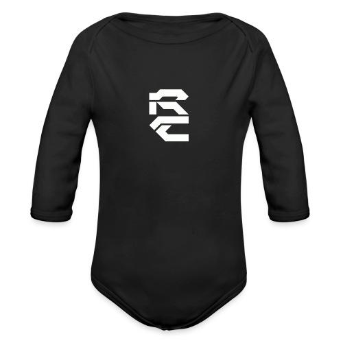 Rhythmic White - Organic Longsleeve Baby Bodysuit