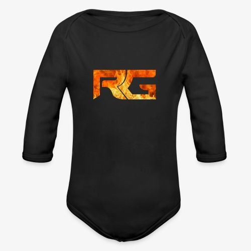 Revelation gaming burns - Organic Longsleeve Baby Bodysuit