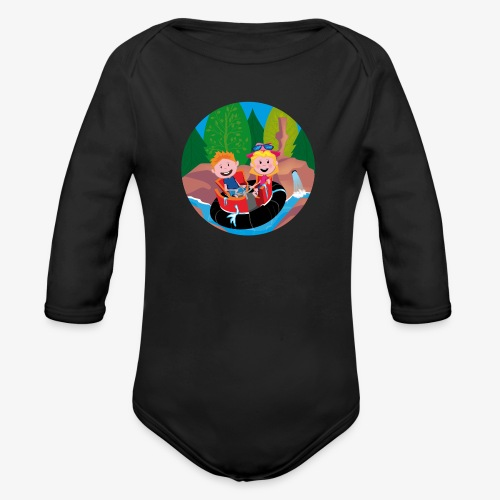 Themepark: Rapids - Baby bio-rompertje met lange mouwen