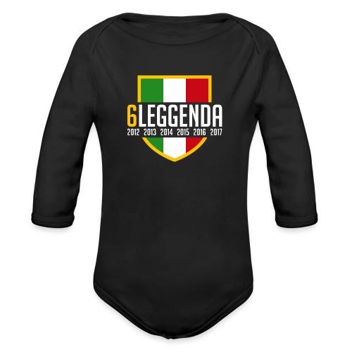 6LEGGENDA BLACK - Body ecologico per neonato a manica lunga