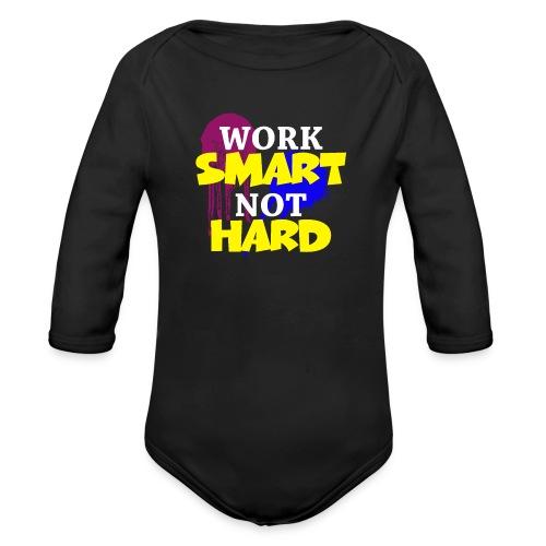 travailler intelligemment pas difficile - Body Bébé bio manches longues