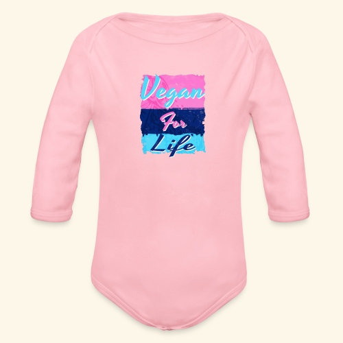 Vegan for Life - Organic Longsleeve Baby Bodysuit