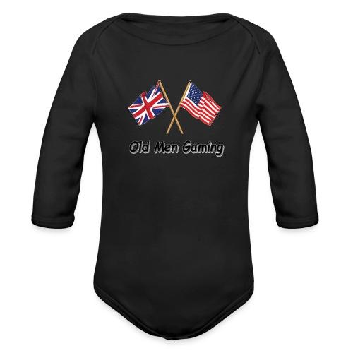 OMG logo - Organic Longsleeve Baby Bodysuit