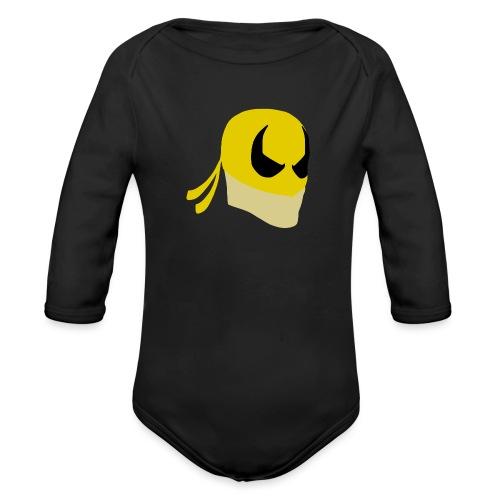 Iron Fist Simplistic - Organic Longsleeve Baby Bodysuit