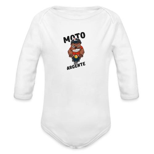 moto argente - Body Bébé bio manches longues