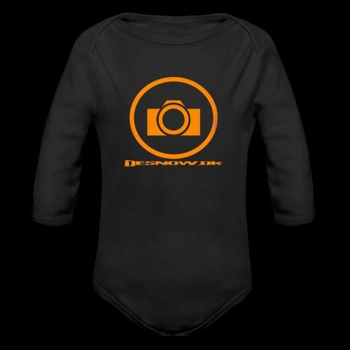 Orange 2 png - Langærmet babybody, økologisk bomuld