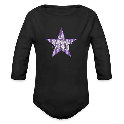 bonnet LCC noir etoie violette - Organic Longsleeve Baby Bodysuit