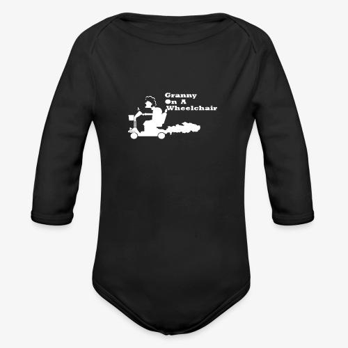 g on wheelchair - Organic Longsleeve Baby Bodysuit