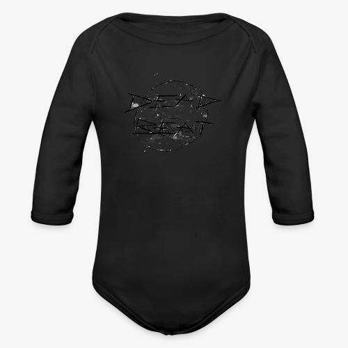DeadBeat logo - Organic Longsleeve Baby Bodysuit