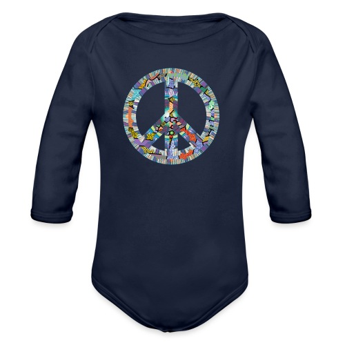 Peace - Organic Longsleeve Baby Bodysuit