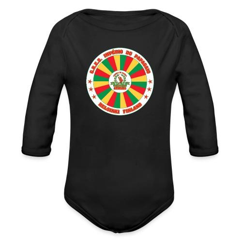 Papagaio drum logo - Vauvan pitkähihainen luomu-body
