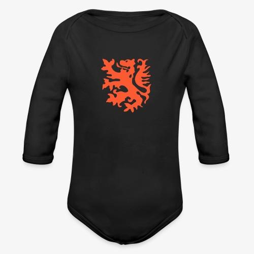 Orange lion Replica Holland 1974 - Organic Longsleeve Baby Bodysuit