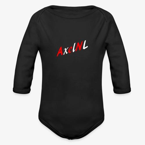 AxelNL - ROOD - Baby bio-rompertje met lange mouwen