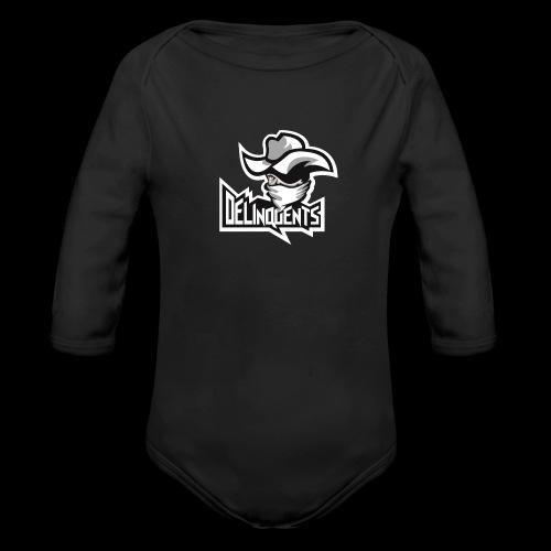 Delinquents Hvidt Design - Langærmet babybody, økologisk bomuld